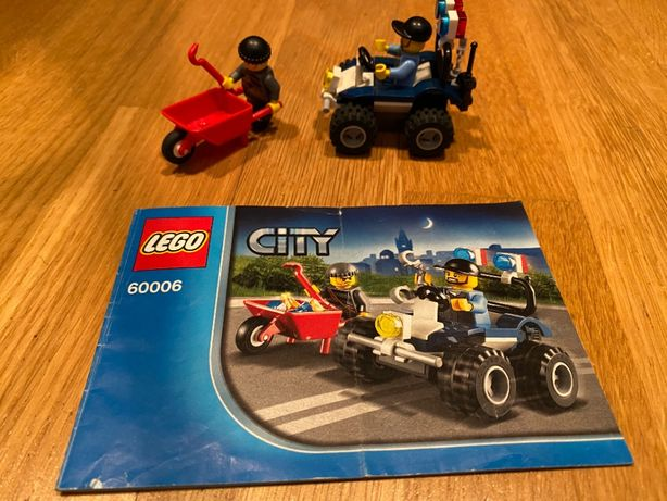Zestaw Lego City 60006 złodziej i quad policyjny Police