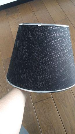 Abażur czarny ze srebrnym wzorem