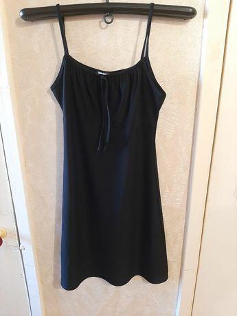 Стильное женское мини платье чёрного цвета