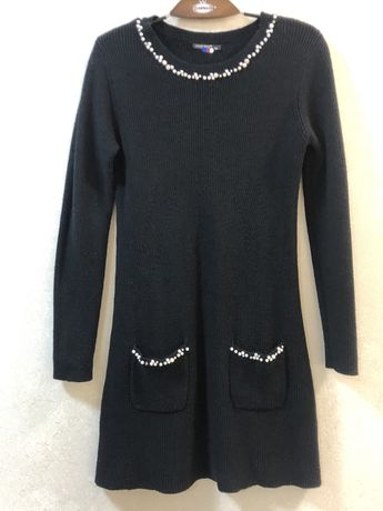 Теплое итальянское платье туникас жемчужинами 44-46р LOUISE OROP