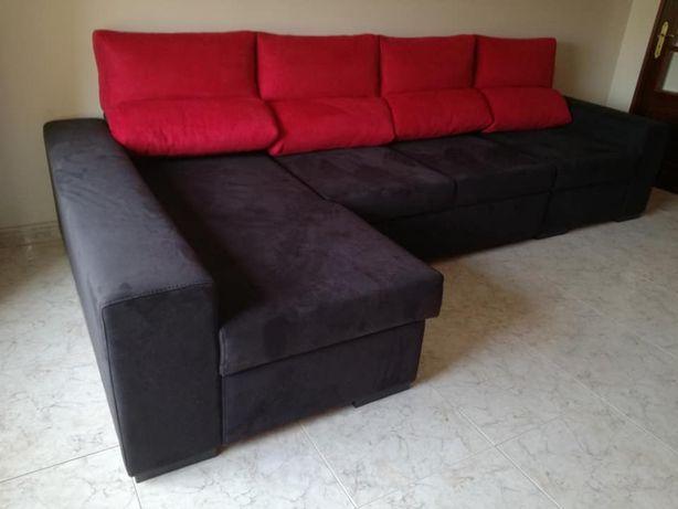 Sofá cama Roma com 330 cm, novo de fábrica