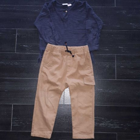Spodnie i bluzka Zara 98 komplet