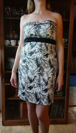 Sukienka H&M rozm.12/42/XL bez ramiączek, 63% bawełna jak nowa