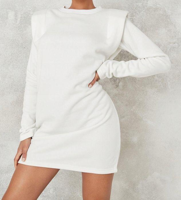 Piekna biala sukienka mini/sukienka dres missguided Żory - image 1