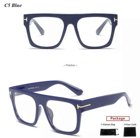 Nowe! Granatowe designerskie oprawki / okulary