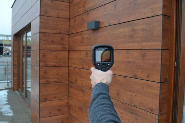 Termowizja Kamera termowizyjna badanie strat ciepła budynków, przeciek