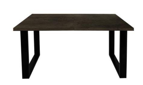 stół nowoczesny 145x90cm , czarne nogi stalowe, dąb ciemny-kasztan