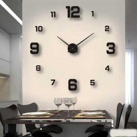 Часы на стену. 3-D часы - наклейки «сделай сам». От 60 до 90 см
