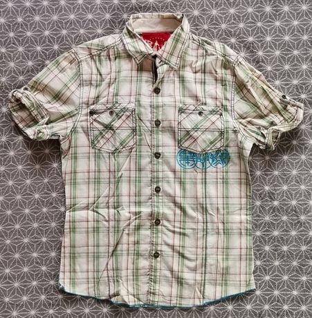 Koszula krata krótki rękaw River Island M