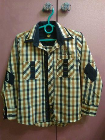 Рубашка на хлопичка стиляга в клітинку 4 роки 104 ріст