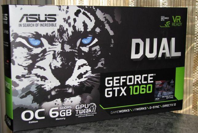 Видеокарта Asus Dual GTX1060, 6Gb, 192bit, GDDR5