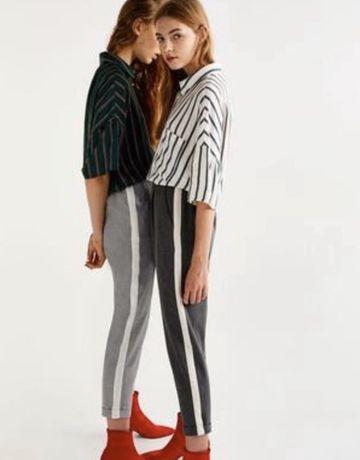 Штаны, брюки zara с лампассами