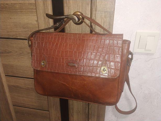 Портфель кожаный El Campero, сумка для ноутбука