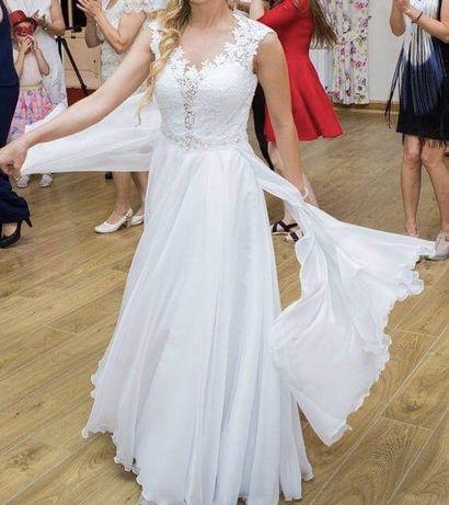Suknia ślubna IGAR Hermiona biała rozm. 36 +welon gratis