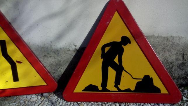 sinais para obras