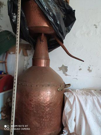 Alambique pote artesanal grande dimensão