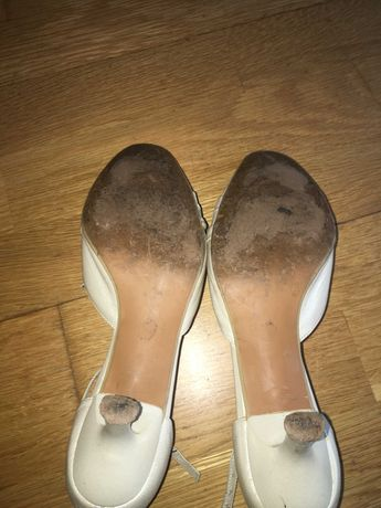 Buty damskie skórzane, włoskie, białe, kość słoniowa, rozmiar 36