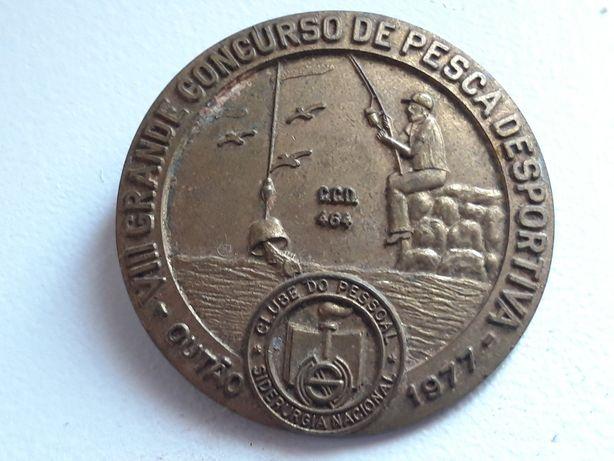 Pin pregadeira Pesca desportiva 1977 concurso siderugia nacional