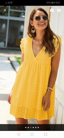 Крутое летнее платье натуральное