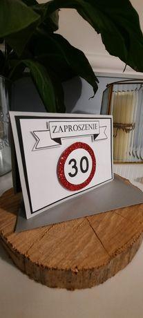 Zaproszenia ręcznie robione na 30 urodziny