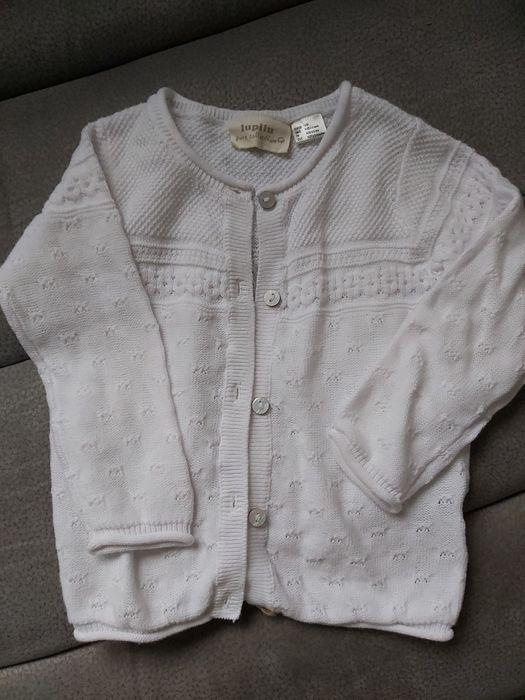 Sweterek biały rozmiar 74/80 Lubin - image 1