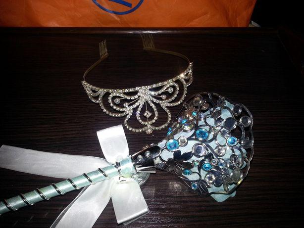 Волшебная палочка корона металлическая диадема тиара принцесса