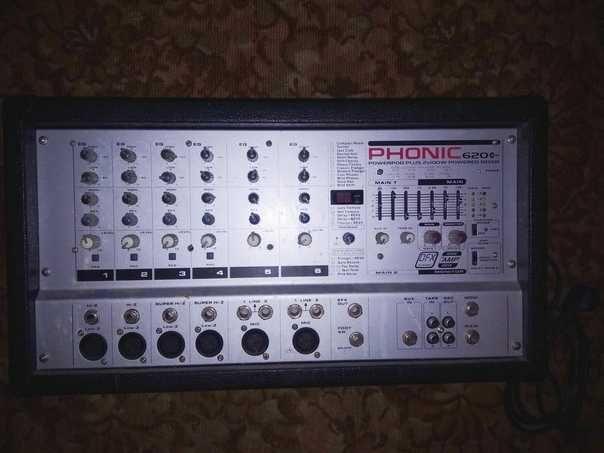 Усилитель микшер Phonic 620 plus Краснодон - изображение 1