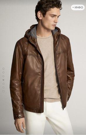 Куртка кожа Massimo Dutti оригинал! Р -L(michael Kors)