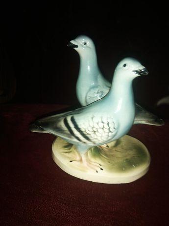 Golabki, Figurka 2 gołębi , Sitzendorf, Turyngia, Niemcy