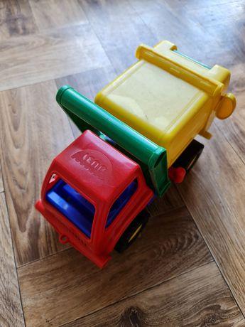 Plastikowa śmieciarka ze śmietnikiem dla dzieci
