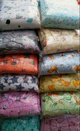 Набор постельного белья в  детскую кроватку бортики, одеяла, подушка