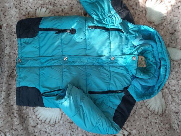 Зимняя куртка на мальчика 140см