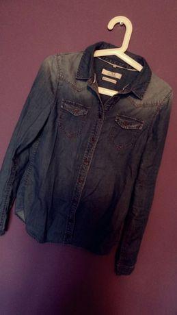 Koszula jeansowa 34 xs kieszonki c&a