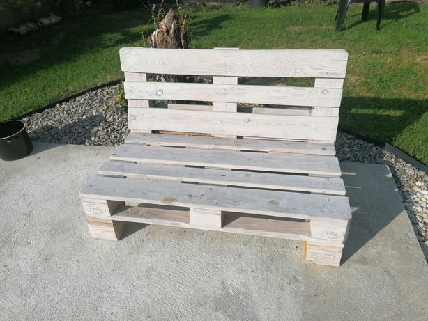 Ławka z palet, sofa z palet