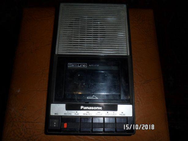 Магнитофон-диктофон касетный 80-х Panasonic Slim Line