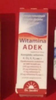Witamina ADEK w kroplach - dr Jacobs 20 ml - wystarcza na 600 dni