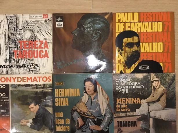 Discos de vinil Paulo de Carvalho , Herminia , Tony de Matos, Tonicha