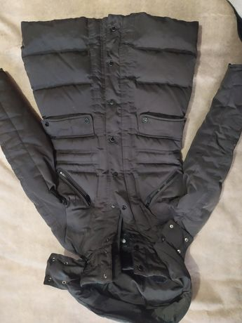 Куртка пуховик зимняя Zara woman , косуха в подарок