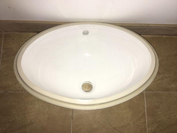 Nowy zlew łazienkowy, do łazienki, owalny, biały, odcienie białego !!!