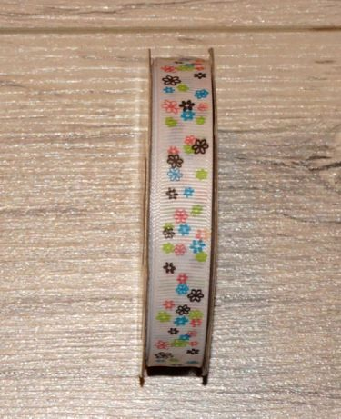 Tasiemka dekoracja handmade florystyka