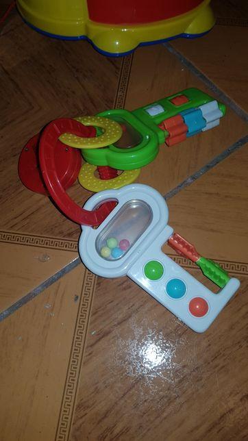 Grzechotka kluczyki samochodowe melodyjka dla dziecka - klucze
