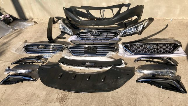 Бампер, Решетка, усилитель, ходовой огонь на Hyundai Sonata 2014-2017