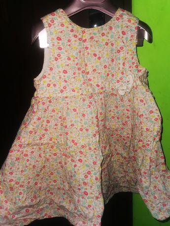 Sukienka H&M 92 Kwiaty