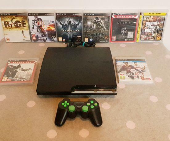 Reze! Konsola Sony Playstation 3 + 8 gier + pad bezprzewodowy ps3 Łódź
