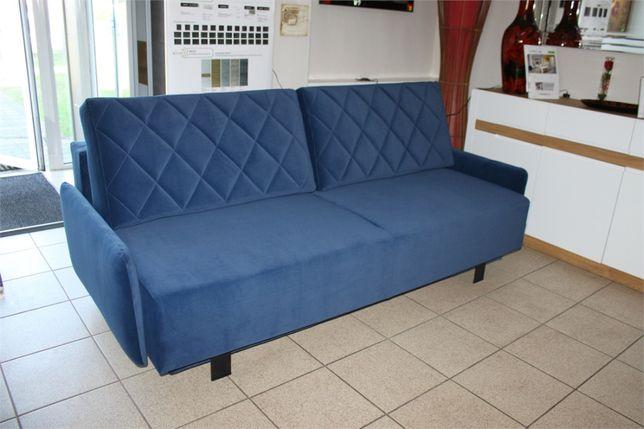 Sofa rozkładana granatowa IKARIA dostępna od ręki
