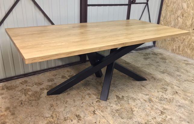 Stół dębowy rozkładany stół pająk industrialny stół loft stelaż noga