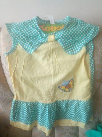 детское девичье платье сарафан 100 % хлопок Турция Kobold новое