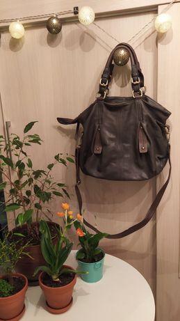 Granatowa duża torba