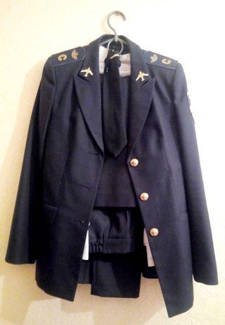 Форма НАУ полный комплект женская пиджак рубашка юбка штаны