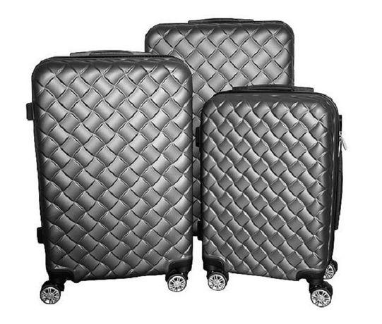 Zestaw walizek set walizki podróżne mulano szare M L XL 1410